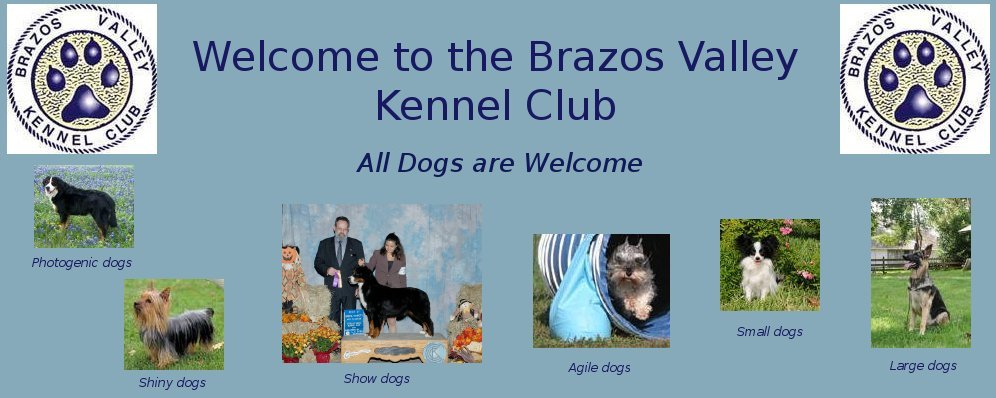 Welcome to the Brazos Valley Kennel Club